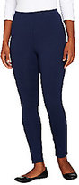 Denim & Co. As Is Active Duo- Duo-Stretch Leggings w/Back Seam Detail