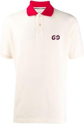 Gucci GG embroidery polo shirt