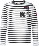 Alexander McQueen badge appliqué striped top - men - Cotton - S