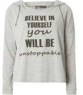 Dorothy Perkins Womens **Only Play Grey Slogan Sweat Top- Grey