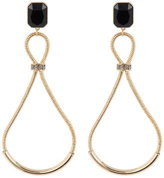 trina Trina Turk Linear Teardrop Chain Statement Drop Earrings