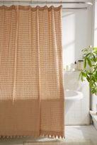 Plum & Bow Pompom Dot Shower Curtain