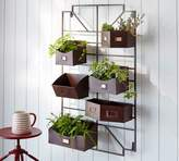 Pottery Barn Bronze Wall Planter Grid