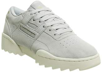 Reebok Workout Ripple Trainers Cold Grey Chalk