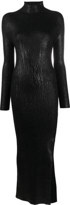 Andrea Ya'aqov High Neck Knitted Midi Dress