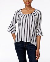Style&Co. Style & Co Petite Striped Bell-Sleeve Top, Only at Macy's
