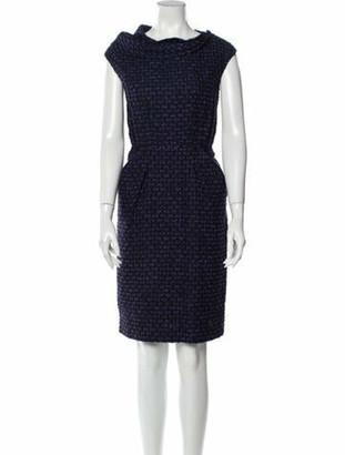 Oscar de la Renta 2010 Mini Dress Blue