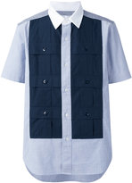 Comme des Garcons paneled shortsleeved shirt