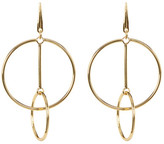 Trina Turk Double Ring Linear Drop Earrings