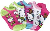 Hello Kitty 5 Pack Bow Socks (Toddler)-Multicolor-5-6.5