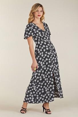 Yumi Daisy Button Through Midi Dress
