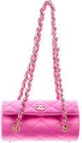 Chanel mini satin barrel bag