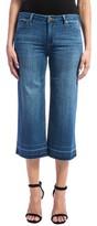 Liverpool Jeans Company Women's High Waist Release Hem Crop Wide Leg Jeans
