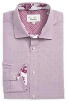 Ted Baker Men's Trim Fit Dot Dress Shirt