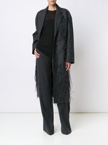 Jason Wu Wool Coat With Feather Embroidery