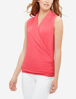 The Limited Drapey Wrap Look Top
