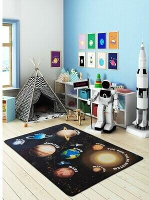 "Zoomie Kids Halleck Animal Print Dhurrie Black Area Rug Rug Size: Rectangle 3'3"" x 4'11"""