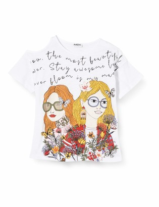 MEK Girl's T-Shirt Motivo Spalla Kniited Tank Top