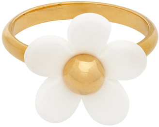 Marc Jacobs White and Gold The Daisy Ring