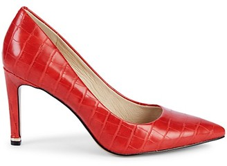 Kenneth Cole New York Riley Croc-Embossed Faux Leather Pumps