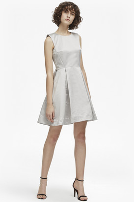 French Connection Juliet Satin Round Neck Dress