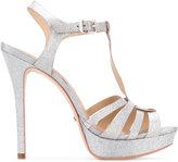 Schutz T-bar glittery sandals - women - Leather - 36