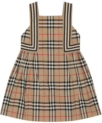 BURBERRY KIDS Checked cotton dress