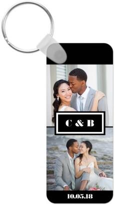 Shutterfly Couple Monogram Key Ring, Rect, ,Adult Unisex