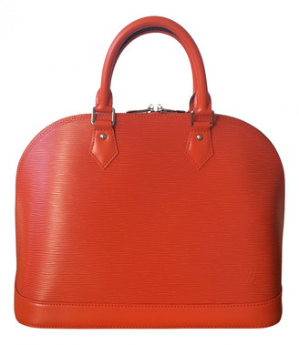 Louis Vuitton Alma Orange Leather Handbags