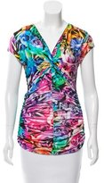 Just Cavalli Silk Floral Print Top