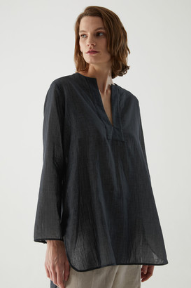 Cos Organic Cotton Chambray Tunic-Style Shirt