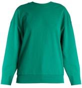 Balenciaga Logo-embroidered cotton sweatshirt
