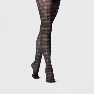 A New Day Women's Sheer Plaid Tights