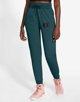Jordan Nike Statement Essentials cuffed sweatpants in teal