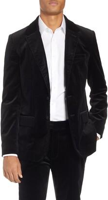 Frame Slim Fit Stretch Velvet Blazer