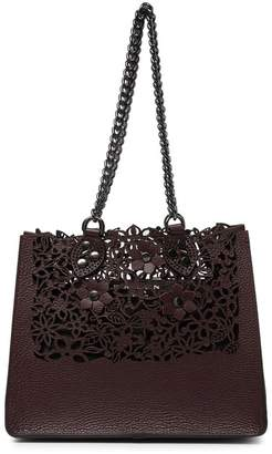 Persaman New York Jamie Laser Cut Leather Satchel