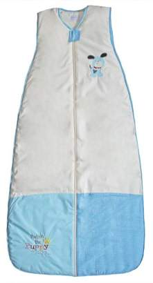 The Dream Bag 110cm Unisex Patch Puppy Cotton Baby Sleeping Bag 2.5 Tog (Cream/Blue)