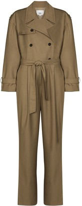 Frankie Shop Belted Trench Jumpsuit
