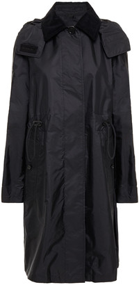 Burberry Corduroy-trimmed Shell Trench Coat