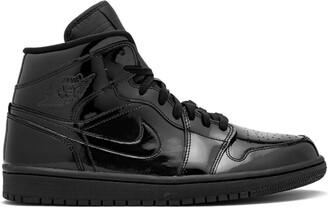 Jordan Air 1 Mid black patent leather