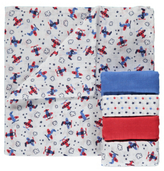 George 5 Pack Assorted Muslin Squares