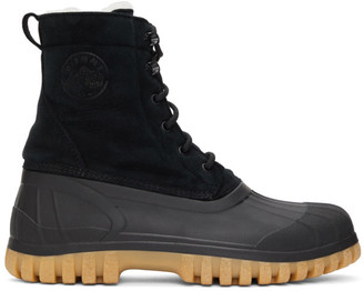 Diemme SSENSE Exclusive Black and Beige Anatra Boots
