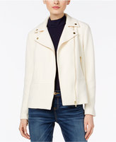 INC International Concepts Petite Textured Moto Jacket, Only at Macy's