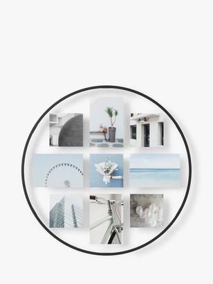 Umbra Infinity Wall Round Floating Photo Frame, 51cm, Black