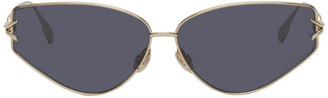 Christian Dior Gold DiorGipsy2 Sunglasses