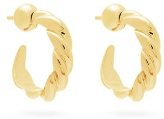 Sophie Buhai Rope Small 18kt Gold-vermeil Hoop Earrings - Gold