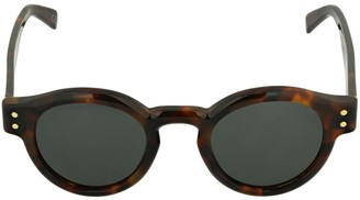 RetroSuperFuture Eddie Havana Round Acetate Sunglasses