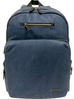 """Cocoon Urban Adventure Carrying Case (Backpack) for 16"""" Notebook - Blue - Waxed Canvas - Shoulder Strap, Handle"""