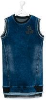 Diesel teen sleeveless denim dress - kids - Cotton/Polyester/Spandex/Elastane - 14 yrs