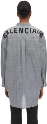 Balenciaga Oversized Pinstripe Cotton Poplin Shirt